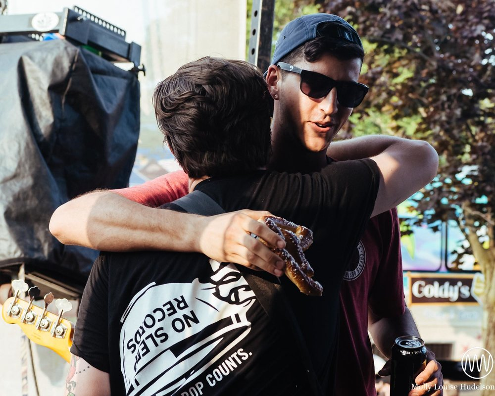 Woody with Brian from Major League / 7/19/15 / Vans Warped Tour / Holmdel, NJ
