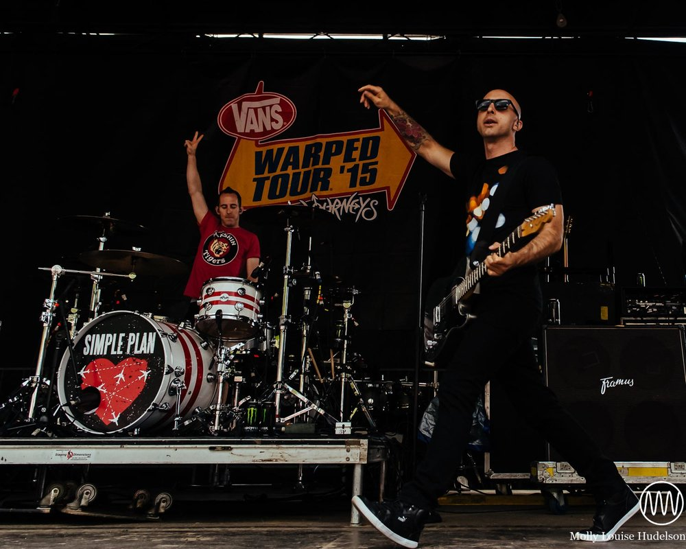 Simple Plan / 7/21/15 / Vans Warped Tour / Scranton, PA