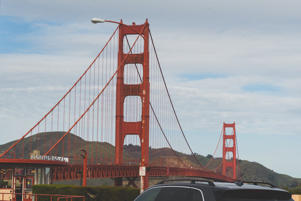 The Golden Gate Bridge, a little closer. / 1/30/15 / San Francisco, CA