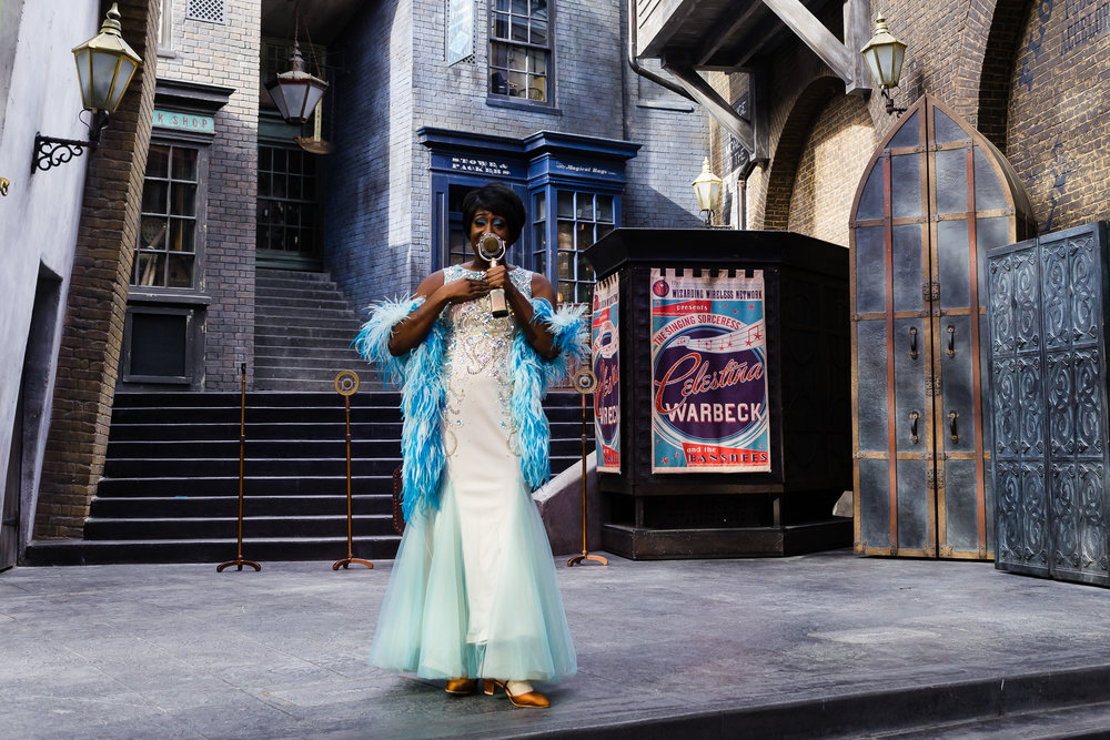 Celestina Warbeck, beautiful and talented. / 3/5/16 / Universal Studios / Orlando, FL