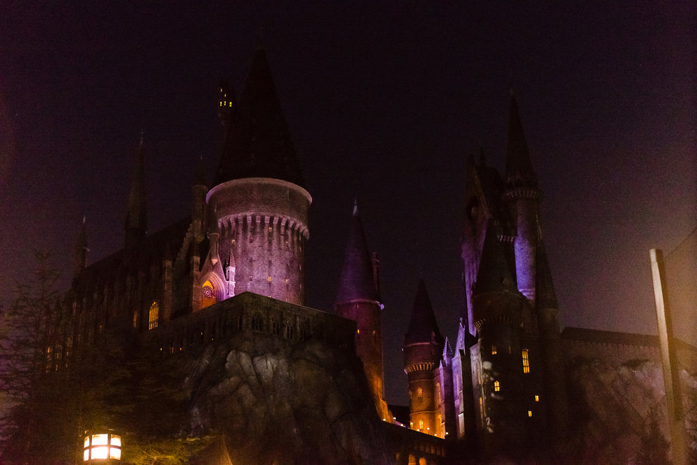 Hogwarts at night. / 3/5/16 / Islands of Adventure / Orlando, FL