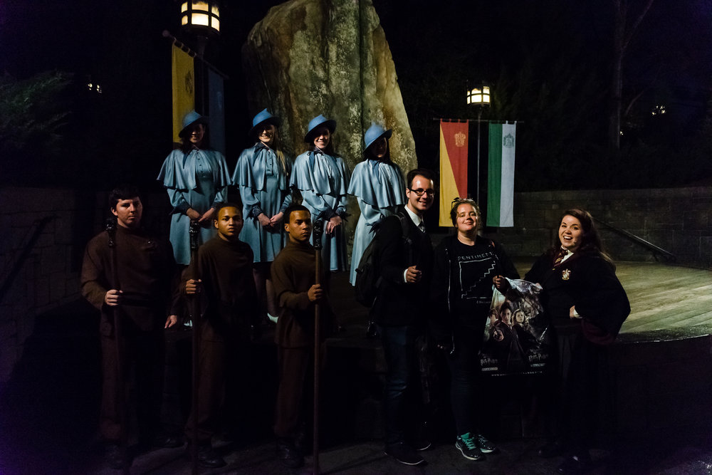 Posing with the international wizards! / 3/5/16 / Islands of Adventure / Orlando, FL