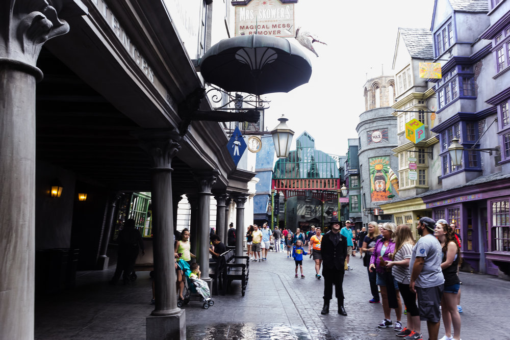 Another view of Diagon Alley. / 3/5/16 / Universal Studios / Orlando, FL