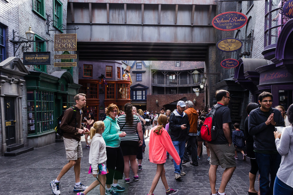 First look at Diagon Alley. / 3/5/16 / Universal Studios / Orlando, FL