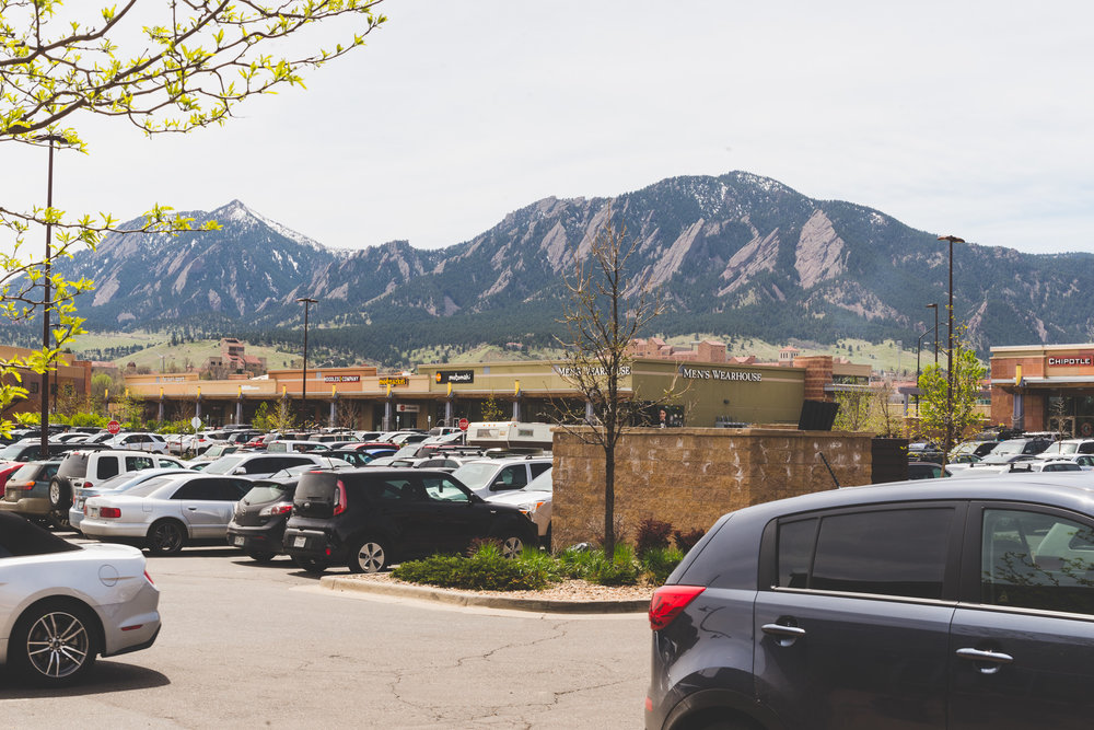 The mountains outside of Native Foods! / 4/23/16 / Boulder, CO
