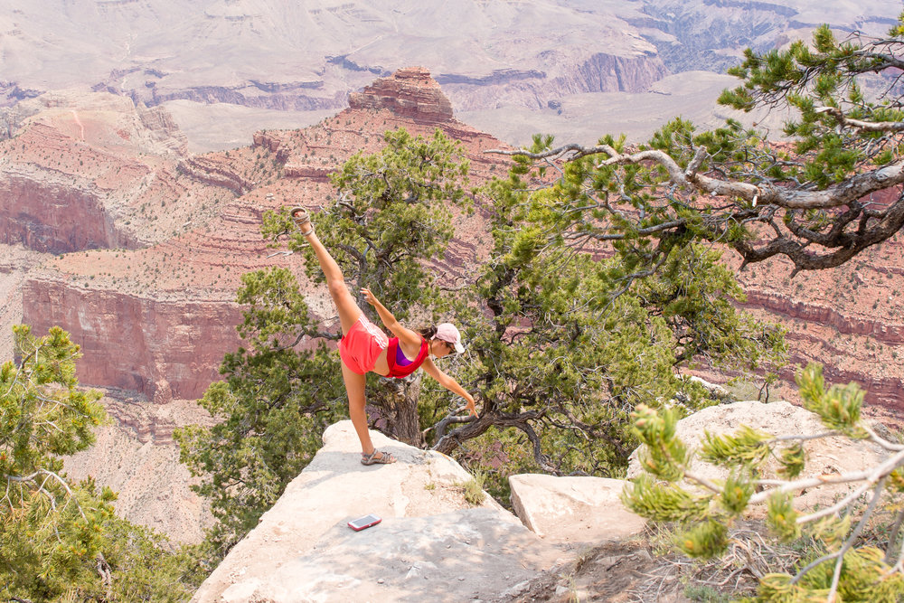 Tessa (she's a dancer, can't you tell?) / 6/20/16 / Grand Canyon South Rim, AZ