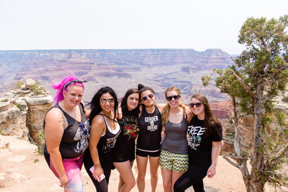 Me, Denisse, Audrey, Caroline, Stephanie, and Tory / 6/20/16 / Grand Canyon South Rim, AZ