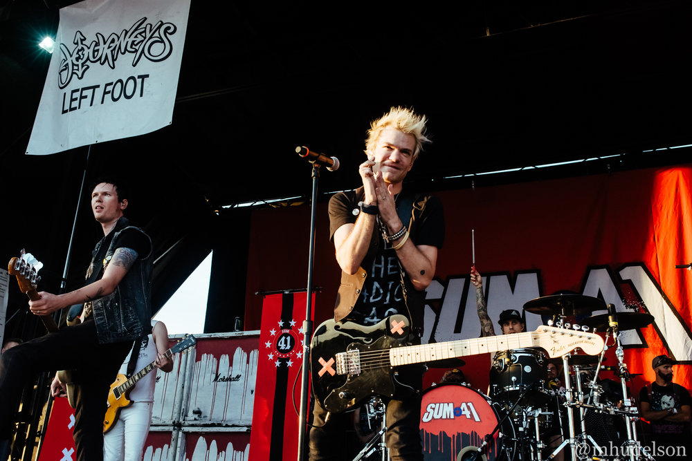 Sum 41 / 7/7/16 / Vans Warped Tour / Syracuse, NY