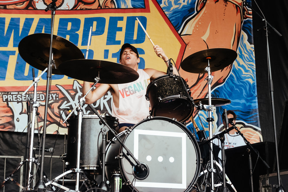 Kenny of Too Close To Touch / 7/8/16 / Vans Warped Tour / Camden, NJ
