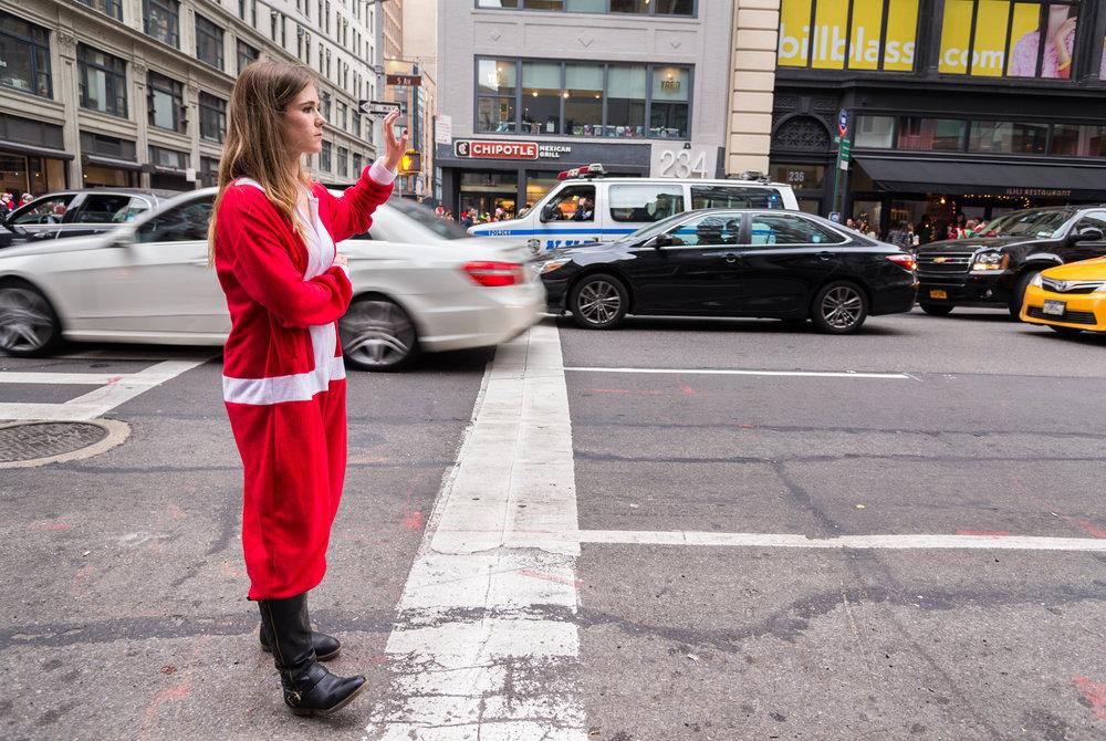 Mrs Claus Hails A Cab