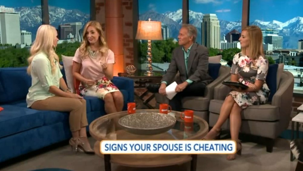 Founder Candice talks on Fox's Show the Place about the 5 Signs that Your Spouse is Cheating.