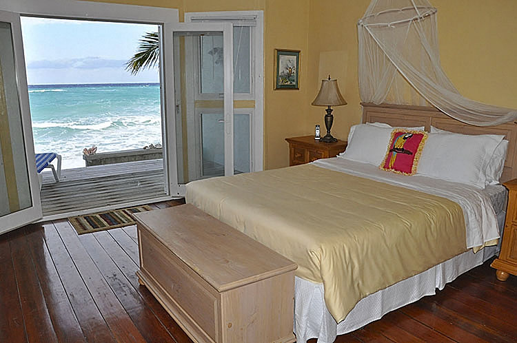 BEACHFRONT ACCESS. . .AQUA HOUSE BEDROOM ONE. . .UNIT TWO