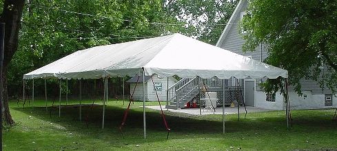 20' x 60' Frame Tents  1,200 sq. feet  Approximately 170 guests (rectangular tables)  *tents are subject to change style*