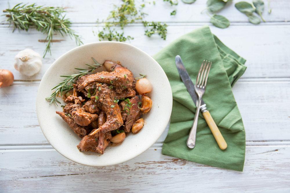 Provincial rabbit stew. Photo by Tristan Lutze.