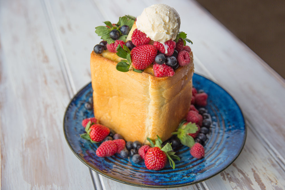 Japanese-brick-toast-berries