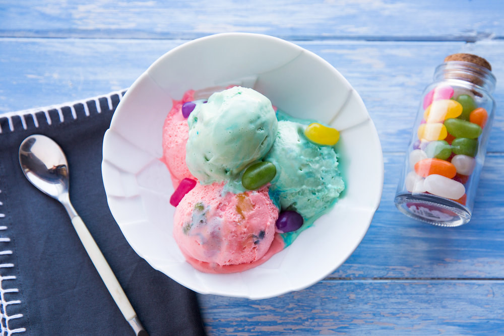 Jelly bean ice cream