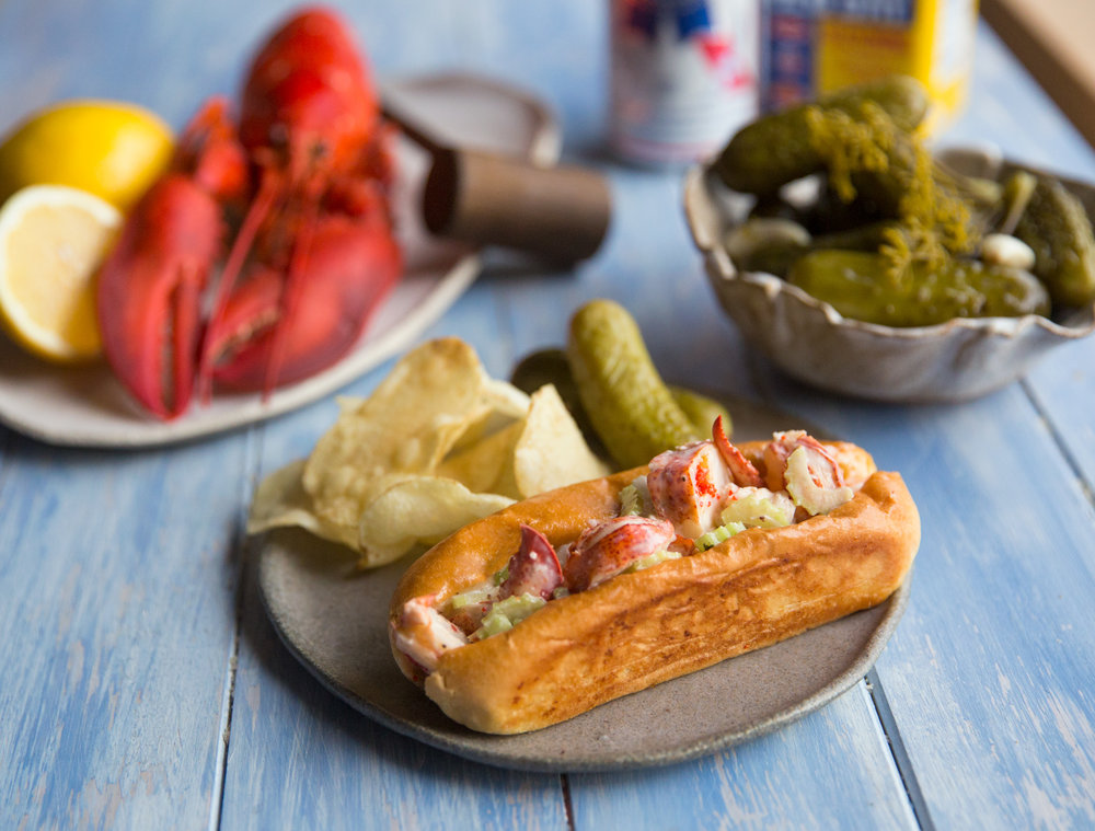 New England-style lobster roll.