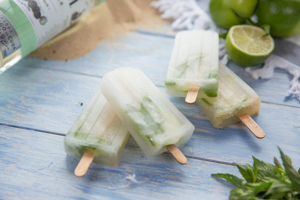 Mojito ice blocks