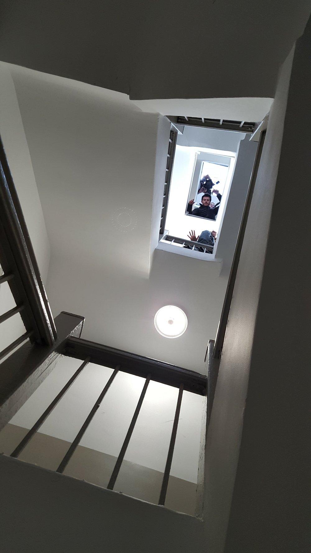Copy of Copy of Copy of Copy of Copy of Copy of Copy of Copy of Framing overhead shot of Ellen's ascent.