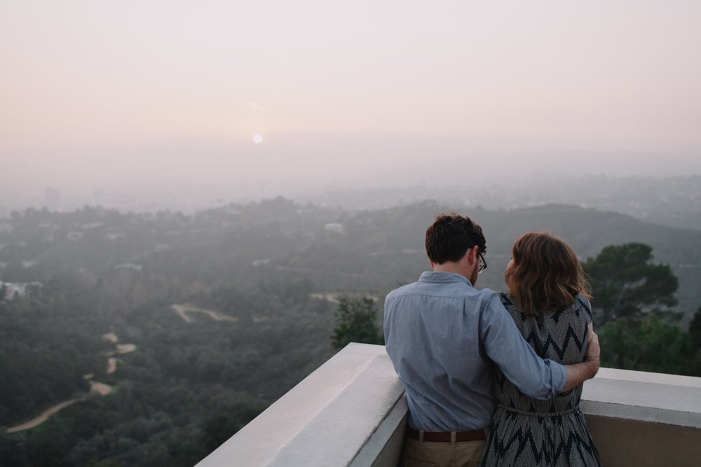 Griffith Park Observatory and Trails Cafe Los Angeles Engagement Session - Alison and Andrew-021.jpg