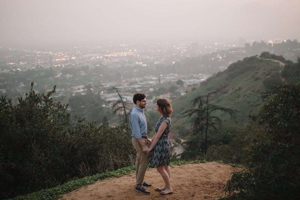 Griffith Park Observatory and Trails Cafe Los Angeles Engagement Session - Alison and Andrew-036.jpg