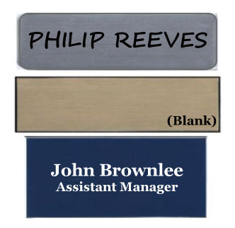 General Plastic Name Badges