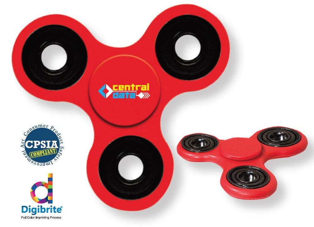 Fidget Fun Hand Spinner - Stress Relief, Full Color$1.85 ea - Price does not include, $50.00 Setup Fee, Shipping Charges, or applicable tax. Product Available in July.