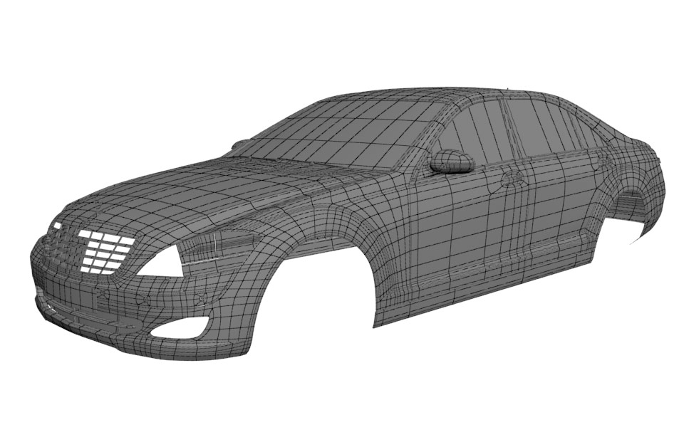 Mercedes 2006 wireframe