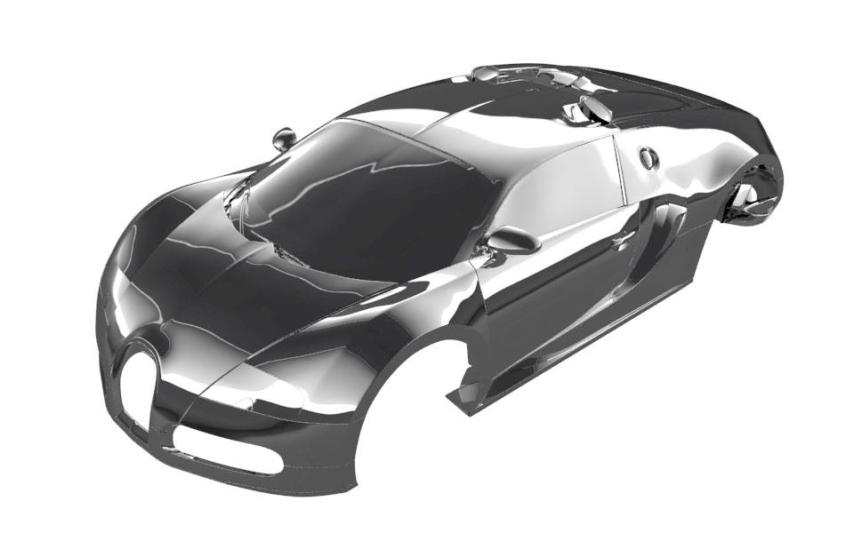 Bugatti Veyron reflection studio