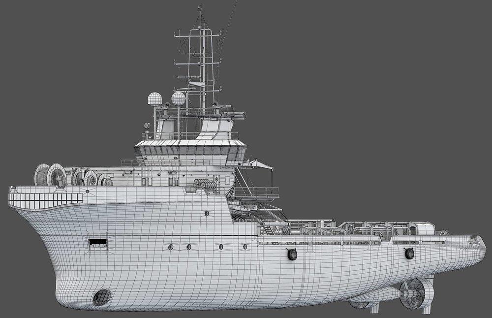 Handling Vessel wireframe