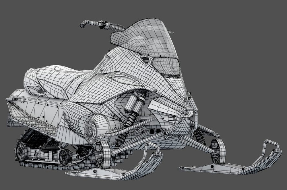 Snowmobile Wireframe 1