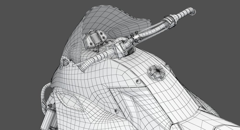 Snowmobile Wireframe 2