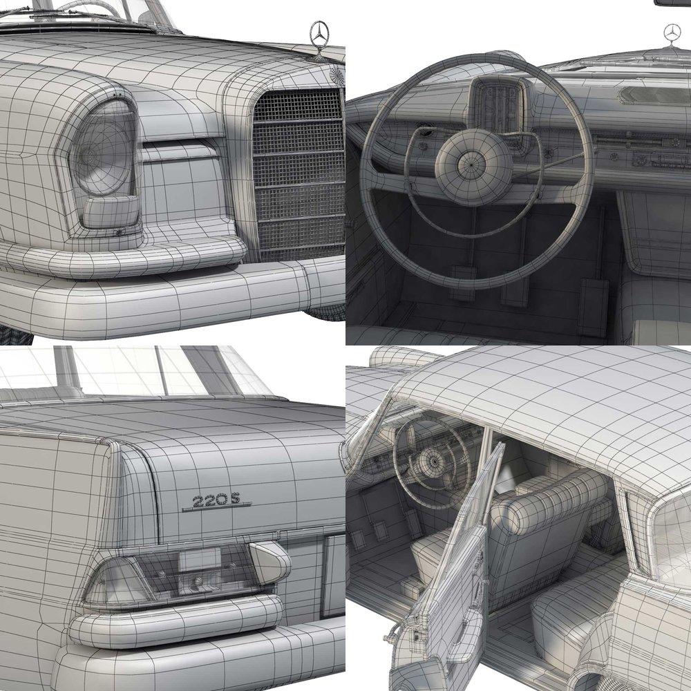 Mercedes W111 wireframe
