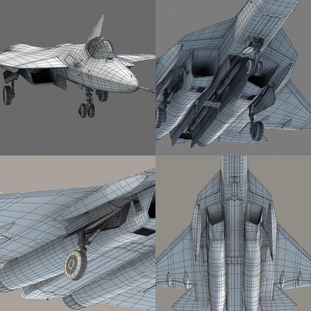 T50 PAK jet wireframe