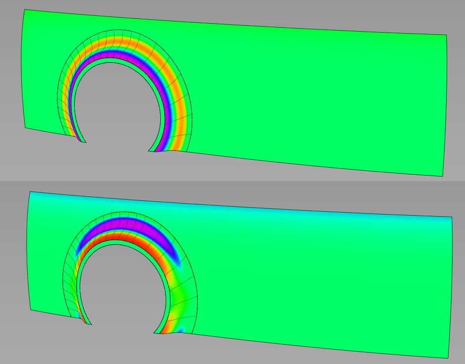Surface Curvature in Colors