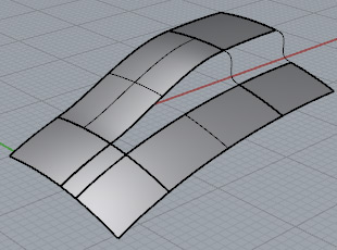 - Create a blend surface and two blend curves.