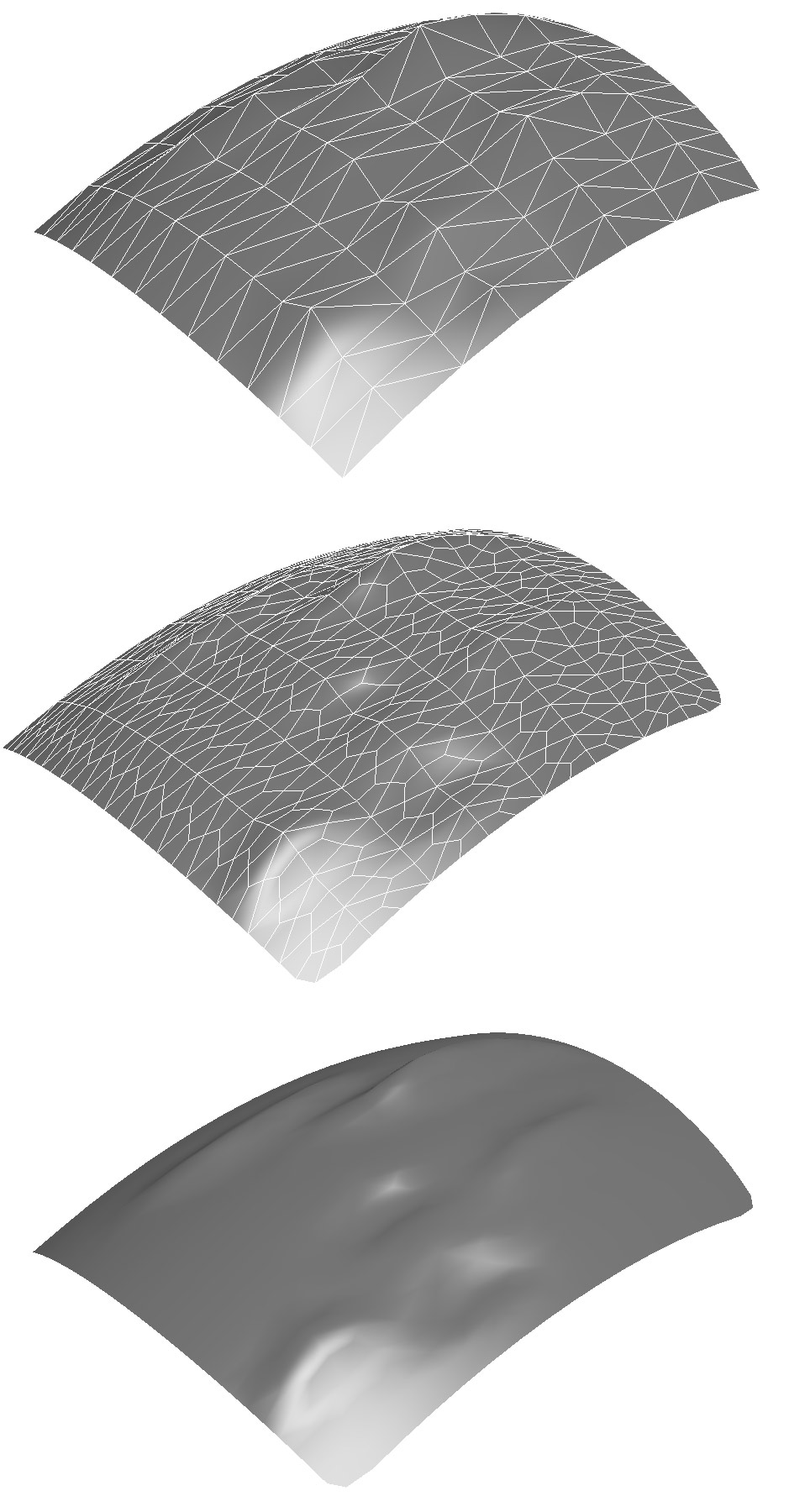 Subdividing triangulated Meshes.