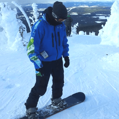 When the soccer fields are filled with snow, you can find me shredding down the mountain trying to land a ground trick or two.