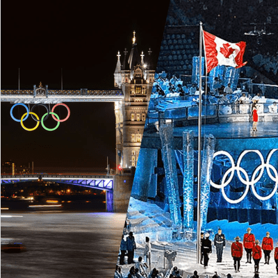 I've been so inspired by the Olympic spirits as a child that after getting involved during in the Vancouver Olympics, I went to the U.K. for the London Olympics two years later.