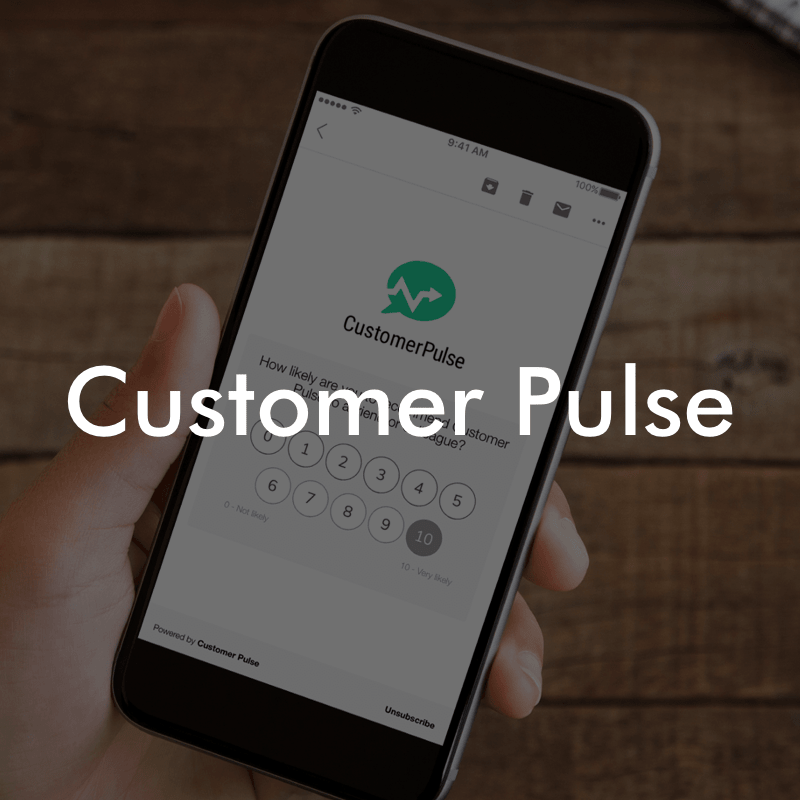Customer Pulse UI/UX   Web App Please contact me to view this case study