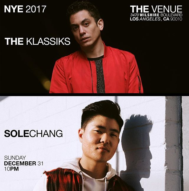 Join us for an amazing NYE celebration here at TheVenue in Ktown as we'll be having special guests DJ @theklassiks and @solechang92 performing from 10pm-2am!  _______  Presale tickets are still going on sale  for $25 and INCLUDES a well cocktail, beer, house wine or glass of champagne. 🍾🍾(Tickets will be $30 at the door) ___________  Bottle service starting at $200 is also available. 💃💃. (Includes tickets for up to 6 guests plus guaranteed seating) _____________  Email reservation@thevenuela.com or sign-up at the link posted in our bio! Book your table before these sell out! ___________  #lounge #ktown #koreatown #coctails #drinks #losangeles #eaterla #eater #feedyoursoull #beautifulcuisines #foodgawker #foodgasm #foodstagram #forkyeah #buzzfeedfood #buzzfeast #zagat #infatuation #laeats #f52grams #eeeeeats #lovefood #feedfeed #eatfamous #foodilysm #huffposttaste #bonappetit #noleftovers #satisfeed