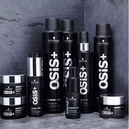 Schwarzkopf Professional OSiS+ SESSION LABEL   A style icon expects superior styling performance delivered in a salon world of premium sophistication and simplistic luxury. Catering to these individual needs, OSiS+ Session Label provides the finest styling range, ensuring superior performance, true craftmanship and long-lasting perfection, all tailored to reveal your own iconic style.
