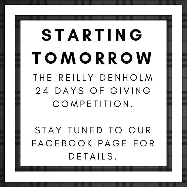'Tis the season of giving! Starting tomorrow, we're giving away a prize every day until Christmas Eve. Simply enter daily via our Facebook page for your chance to win. Good luck! ❄️☃️🎄🎅🏼