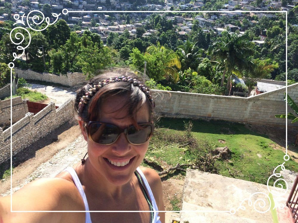 Me in Haiti on the rooftop of my dear friends, Rocky and Meliana, guesthouse. May 2014