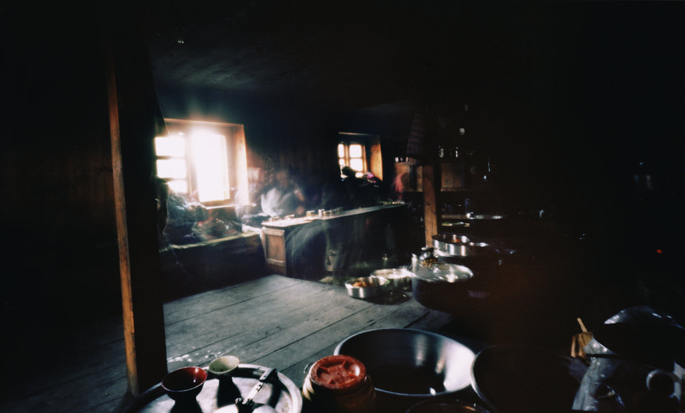Monastery kitchen. Jumbesi, Nepal, 2012
