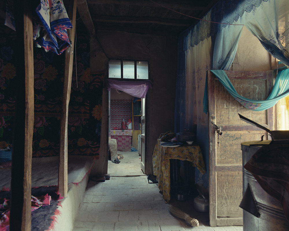Xinjiang, Kargilik - cloth over door