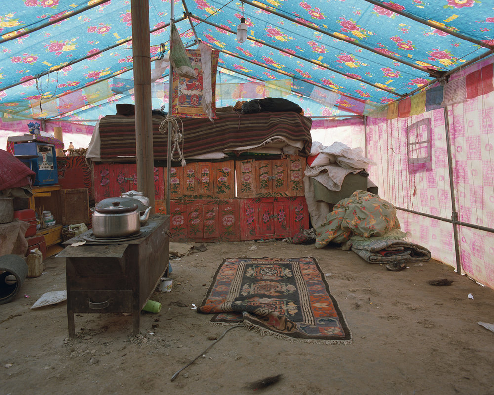 Guizhou, Madoi - tent with carpet