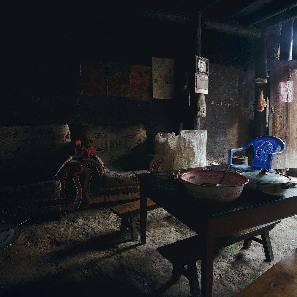 Yunnan, Binchuan - blue chair