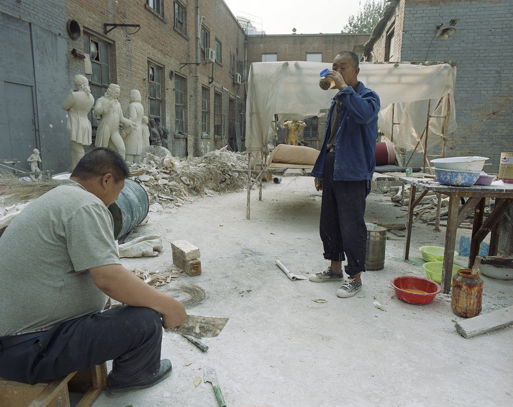 Workers at their work- and living space in 798 - the Beijing Art District