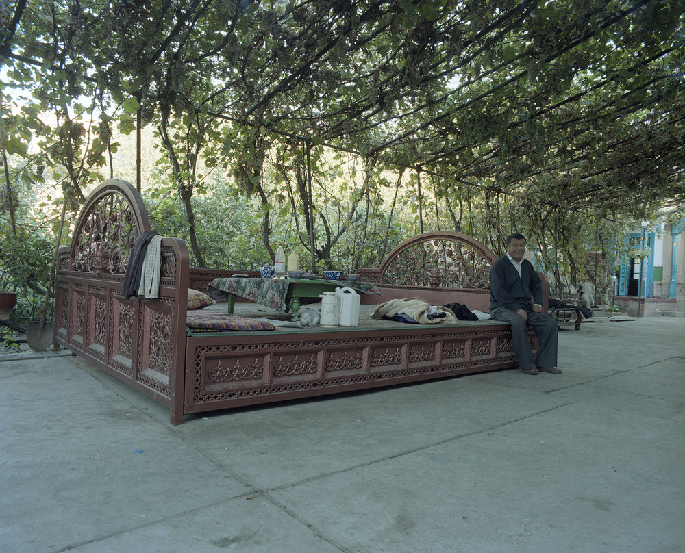 2007 Xinjiang - central patio in a large family house in the center of Yining.